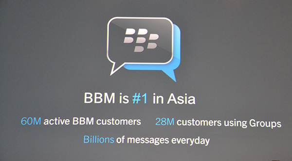 BlackBerry Messenger aka BBM ranked no.1 messaging service in Asia