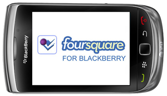 Foursquare application for BlackBerry Smartphone