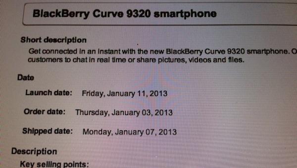 Bell BlackBerry 9320