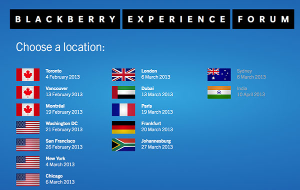 BlackBerry10 Experience Forum registration