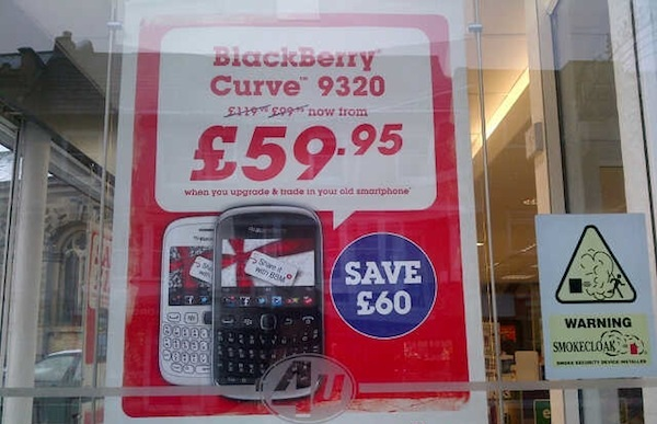 Phones4U BlackBerry Curve 9320